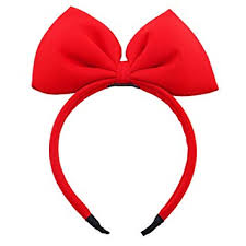 Bow Headband Red Bowknot Headband Big Bow ... - Amazon.com