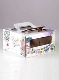 Коробочка/кондитерская <b>упаковка</b>, 18 х 18 х 10 см, для торта ...