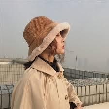 <b>Fibonacci</b> Corduroy Plush Brim Women Bucket Hat Thick Warm ...