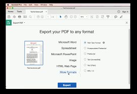 how to convert pdf to word documents on macos sierra techsviewer export your pdf to any format