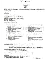 sample new grad nursing resume  template  template sample new grad nursing resume