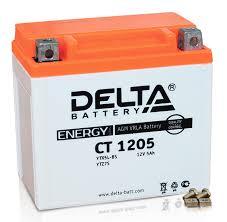 Аккумулятор <b>Delta</b> МОТО CT 1205 12V 5Ач - YTX5L-BS, YTZ7S ...