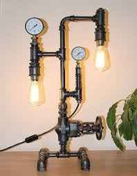 <b>Vintage Metal</b> Water <b>Pipe</b> Wall Lamp Max 80W With 2 Light Painted ...