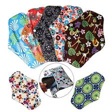 nuosen 7 Pieces Washable Sanitary Towels Pads with <b>1 Piece</b> ...