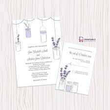 printable wedding invitations popsugar smart living lavender and mason jar wedding invitation