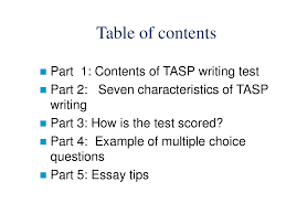 tasp writing test english language lecture slides this is only a preview