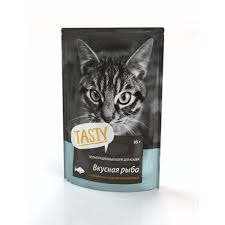 <b>TASTY</b> Petfood ПАУЧ д/<b>кошек с</b> рыбой в желе 85г в Коломне ...