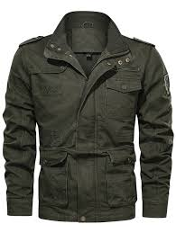 <b>Men's</b> Windproof <b>Stand</b> Collar Jacket Casual Style Simple Coat ...