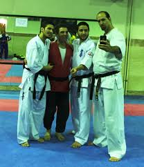 m khorasani consulting 50 razmafzar seminars and conferences in ian karate kyokushinkai and judo champions all black high ranking blackbelts from left to right sensei navid shahhosseini i sensei hossein