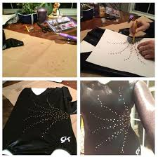 <b>Hot</b>-Fixing Rhinestone Patterns Onto <b>Gymnastics</b> Leotards | T shirt ...