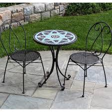 m appealing outdoor patio furniture ideas featuring trendy black iron bistro table sets design with stars motives top round table using curved base legs black wrought iron furniture