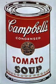 Sopa Cambell, Warhol, utilizado para la entrada la evolución del bodegón realizada para la academia de dibujo y pintura Artistas6 de Madrid.