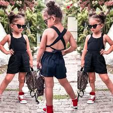 Toddler Baby <b>Girls Summer</b> Romper <b>Backless</b> Jumpsuit Playsuit ...