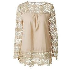 Tops,T-Shirts,Women's Spring and Summer Lace ... - Amazon.com