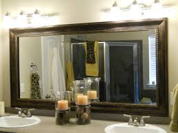 framed bathroom mirrors best way to give unique character to any bathroom mirrors