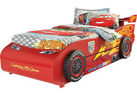 disney cars lightning mcqueen red 6 pc twin bed with spoiler and trundle cars bedroom set cars