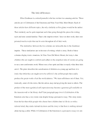 essay on emotions a comparative essay on ellen goodman documents