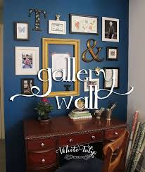 home office dark blue gallery wall home office painting wall decor blue home office