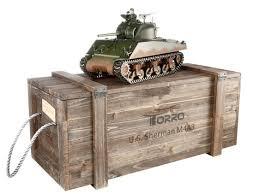 Р/У <b>танк Torro Sherman</b> M4A3, 1/16 2.4G, ИК-пушка, деревянная ...