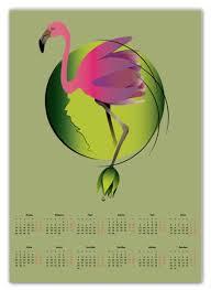 """Календарь А2 """"Розовый <b>фламинго</b>"""" #2773101 от Алена - <b>Printio</b>"""