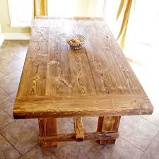 hardware dining table exclusive: rustic pine farmhouse table via etsy