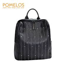 <b>POMELOS</b> vintage soft split leather <b>backpack women 2019</b> new ...