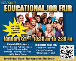 educational job fair wsu college of education career resources edustaff flyer