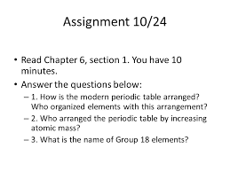 Assignment       Read Chapter    section    You have    minutes     SlidePlayer