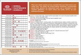 Hyundai Maintenance Schedule The 2011 Sorento Page 11 Kia Forum