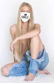 SMILE <b>COTTON</b> FACE <b>MASK</b> (<b>White</b>)