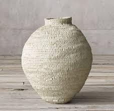 <b>Купить Плетеная корзина</b>-кувшин 41 см в цвете <b>White</b> wash от ...