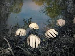 ideas outdoor halloween pinterest decorations: hands in a pond while youre focused on outdoor halloween decorations have