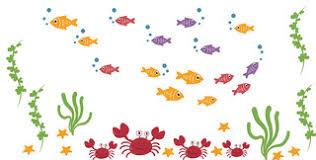 <b>Nursery Wall Decal</b> - Fish Wall Decal - Crab Wall Decal - Fish Decal