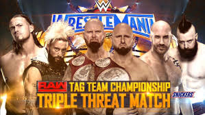 Image result for wrestlemania 33 The club vs sheamus and cesaro vs enzo and cass