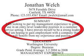 How to Write a Functional Resume (with Sample Resumes) - wikiHow Image titled Write a Functional Resume Step 5