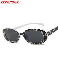 <b>ZXWLYXGX</b> Fashion <b>Oval</b> Frame Sunglasses Cow Color Trend ...