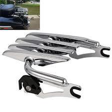 <b>Chrome Detachable Stealth Luggage</b> Rack For Harley Electra Street ...