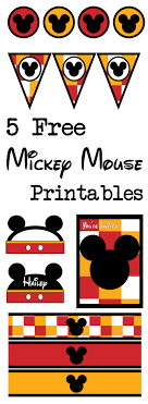 five mickey mouse printables paper trail design