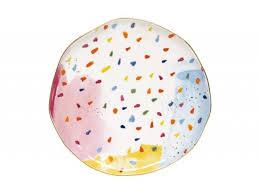 <b>Тарелка закусочная Брызги</b> красок без индивидуальной упаковки ...