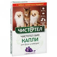 <b>Капли для</b> кошек и мелких собак <b>Чистотел Био</b>, с лавандой 1 мл в ...