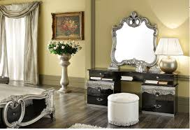 the black and silver furniture