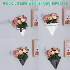 4Types <b>Nordic Creative Living Room</b> Wall Hanging Plant Flower Pot ...