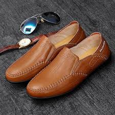 Mu Senda Bean <b>Shoes</b> Genuine Leather Fashion <b>Young Men's</b> ...