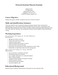 resume personal skills resume badak personal assistant resume examples
