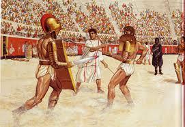 Resultado de imagem para lutas entre gladiadores romanos