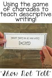best ideas about descriptive writing activities show not tell descriptive writing