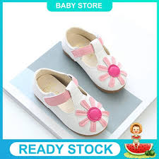 Children Kids Girls Floral <b>Non</b>-<b>Slip Sneaker Leather</b> Pricness ...