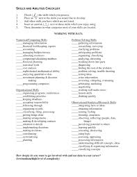 resume job skills checklist cipanewsletter cover letter examples of skills and abilities on a resume good