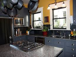 painted blue kitchen cabinets house: furniture kitchen cabinets dark blue paint color with furniture and windows with three shade lamp