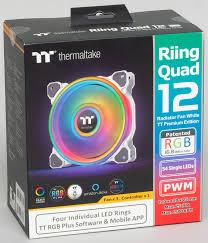 Обзор набора <b>вентиляторов Thermaltake Riing Quad</b> 12 RGB ...